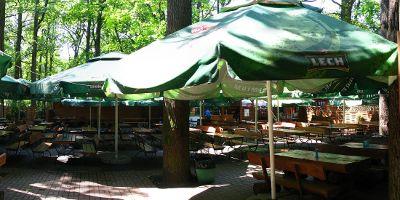 Restauracja Leśniczówka - parasole