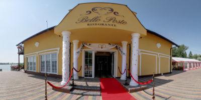 Restauracja Bello Posto - wejście z dywanem