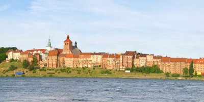 Panorama Grudziądza z 2-go brzegu Wisły