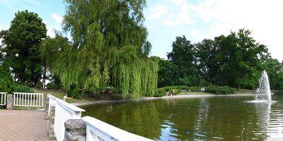 ul. Hallera - Park, Fontanna